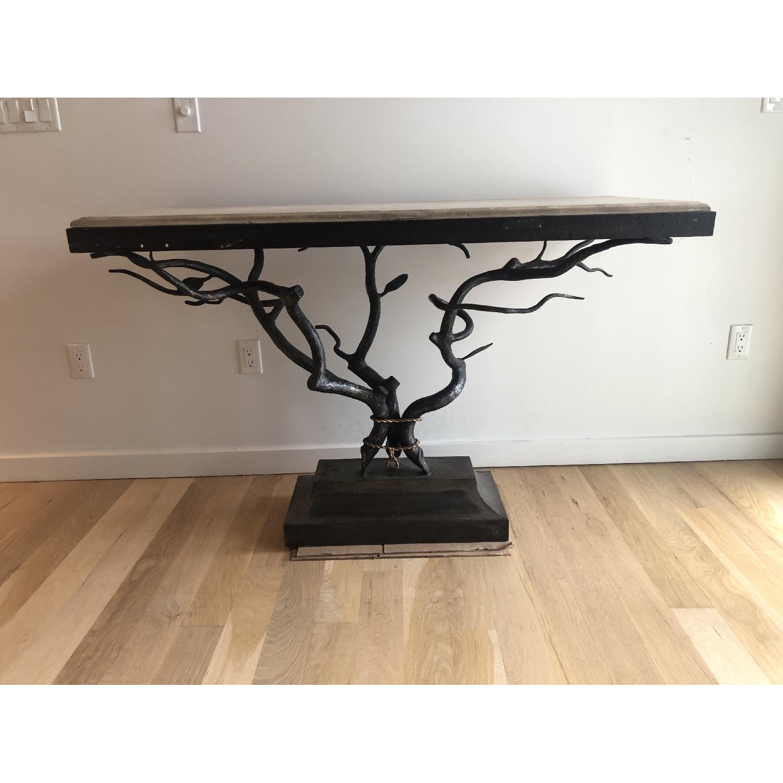 Custom Made Metal Side Table - image-1
