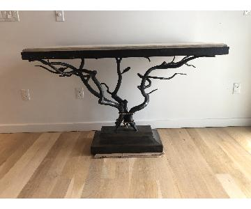 Custom Made Metal Side Table