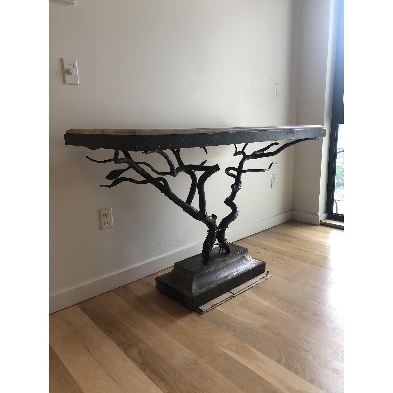 Custom Made Metal Side Table - image-2