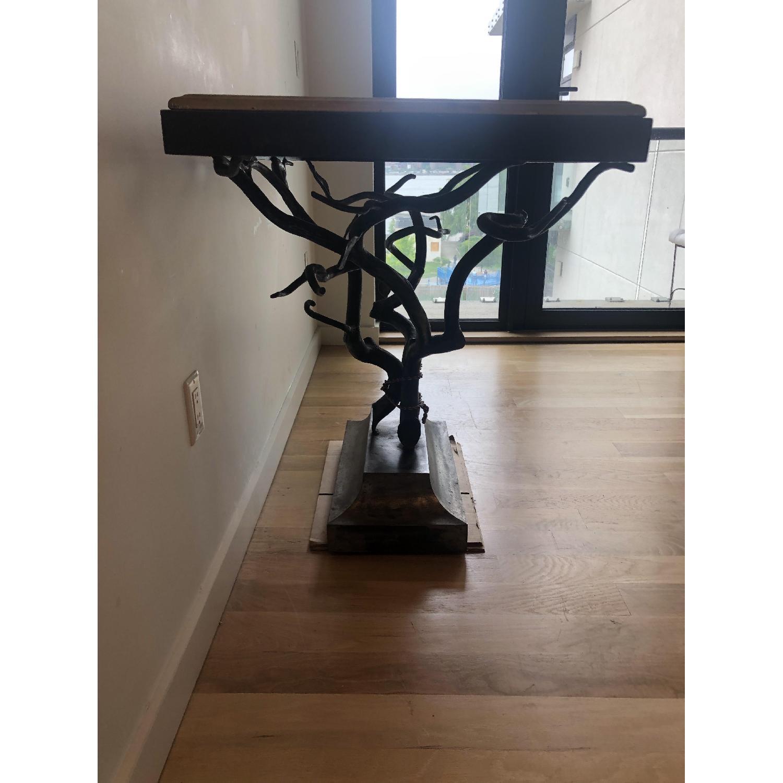 Custom Made Metal Side Table - image-4