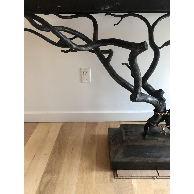 Custom Made Metal Side Table - image-5