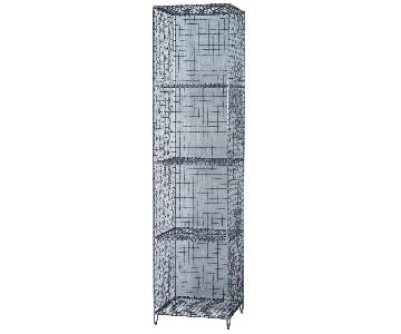 West Elm Wire Mesh Storage/Standing Shelving Rack