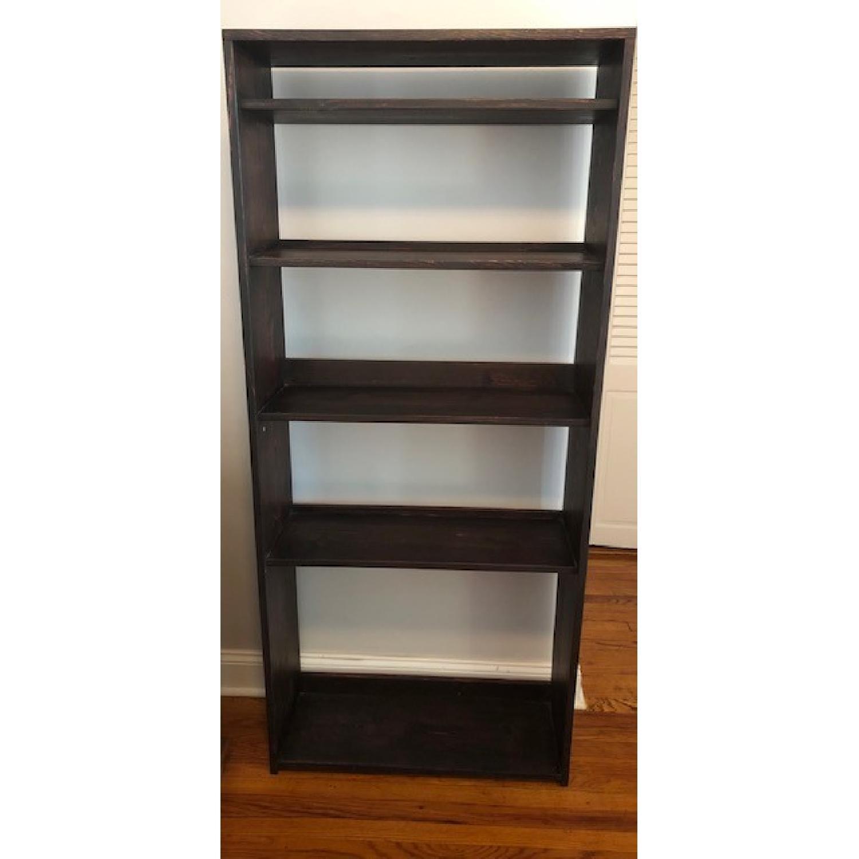 Custom-Made Red Mahogany Wood Bookcase - image-1