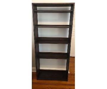 Custom-Made Red Mahogany Wood Bookcase