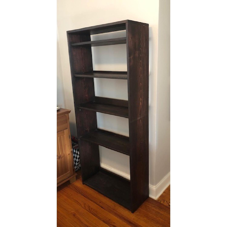 Custom-Made Red Mahogany Wood Bookcase - image-2