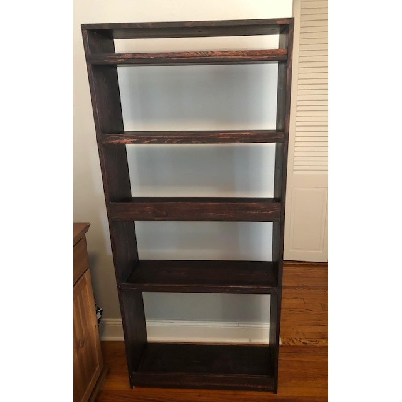 Custom-Made Red Mahogany Wood Bookcase - image-3