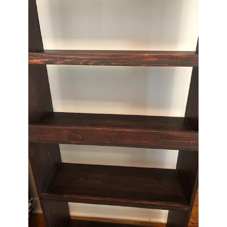 Custom-Made Red Mahogany Wood Bookcase - image-4