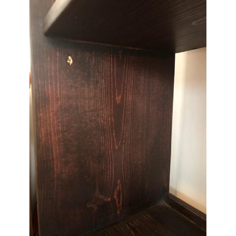 Custom-Made Red Mahogany Wood Bookcase - image-5