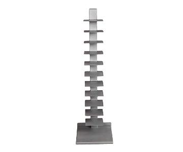 Southern Enterprises Spine Book Tower/Metal Floor Shelves