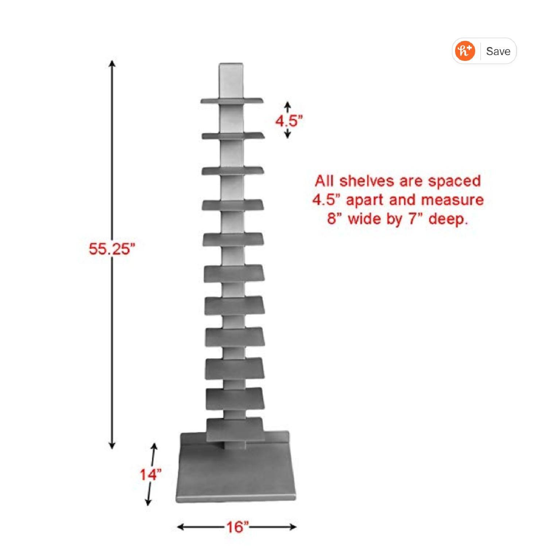 Southern Enterprises Spine Book Tower/Metal Floor Shelves - image-1
