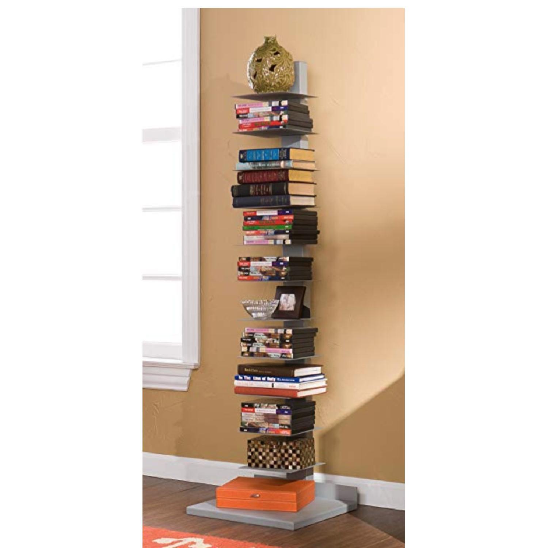 Southern Enterprises Spine Book Tower/Metal Floor Shelves - image-2