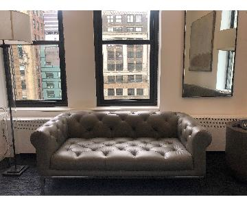 Restoration Hardware Italian Chesterfield Leather Sofa