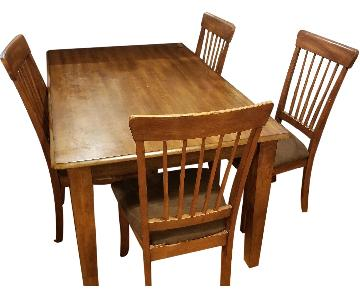 Ashley Wood Dining Table w/ 4 Chairs