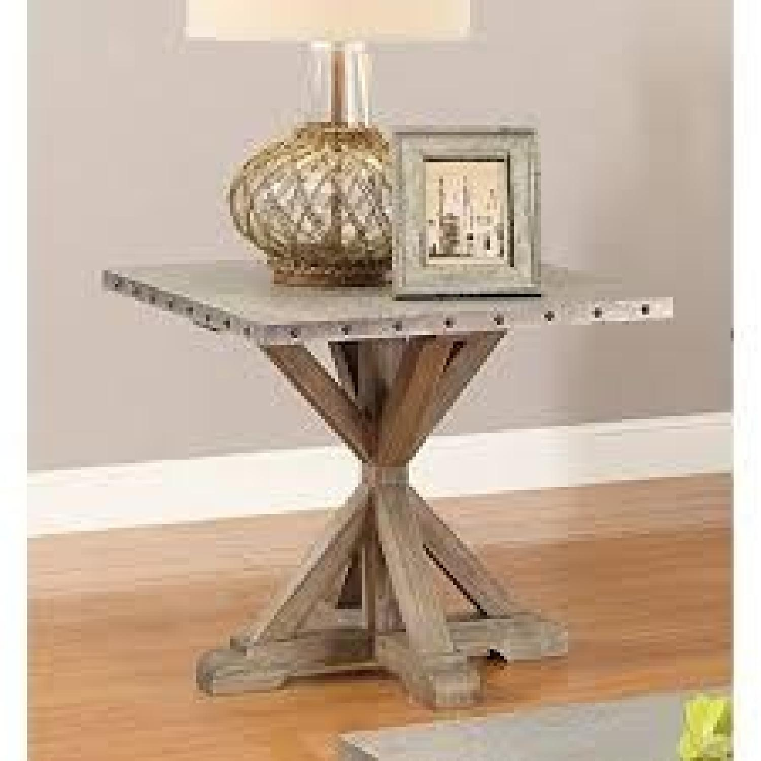 Rustic Industrial Style End Table - image-1