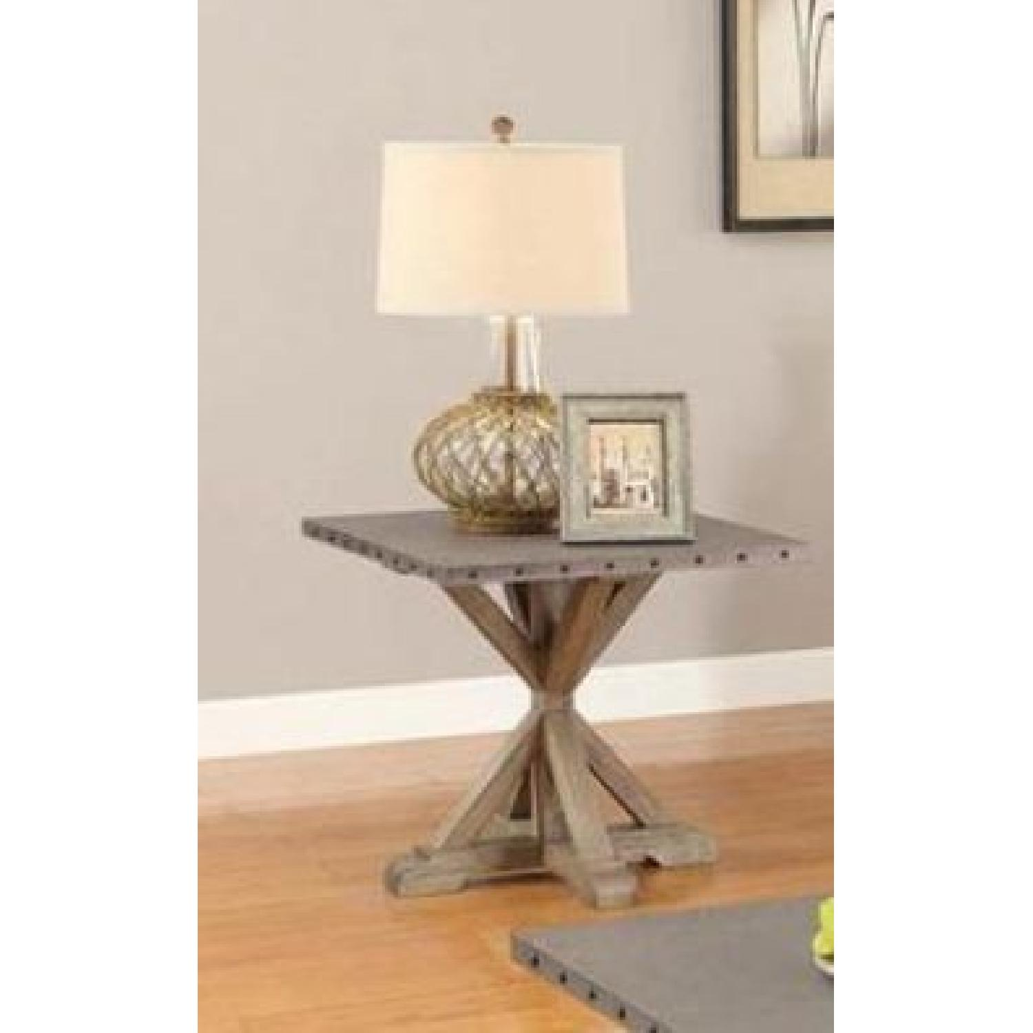 Rustic Industrial Style End Table - image-2