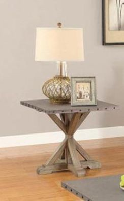 Rustic Industrial Style End Table