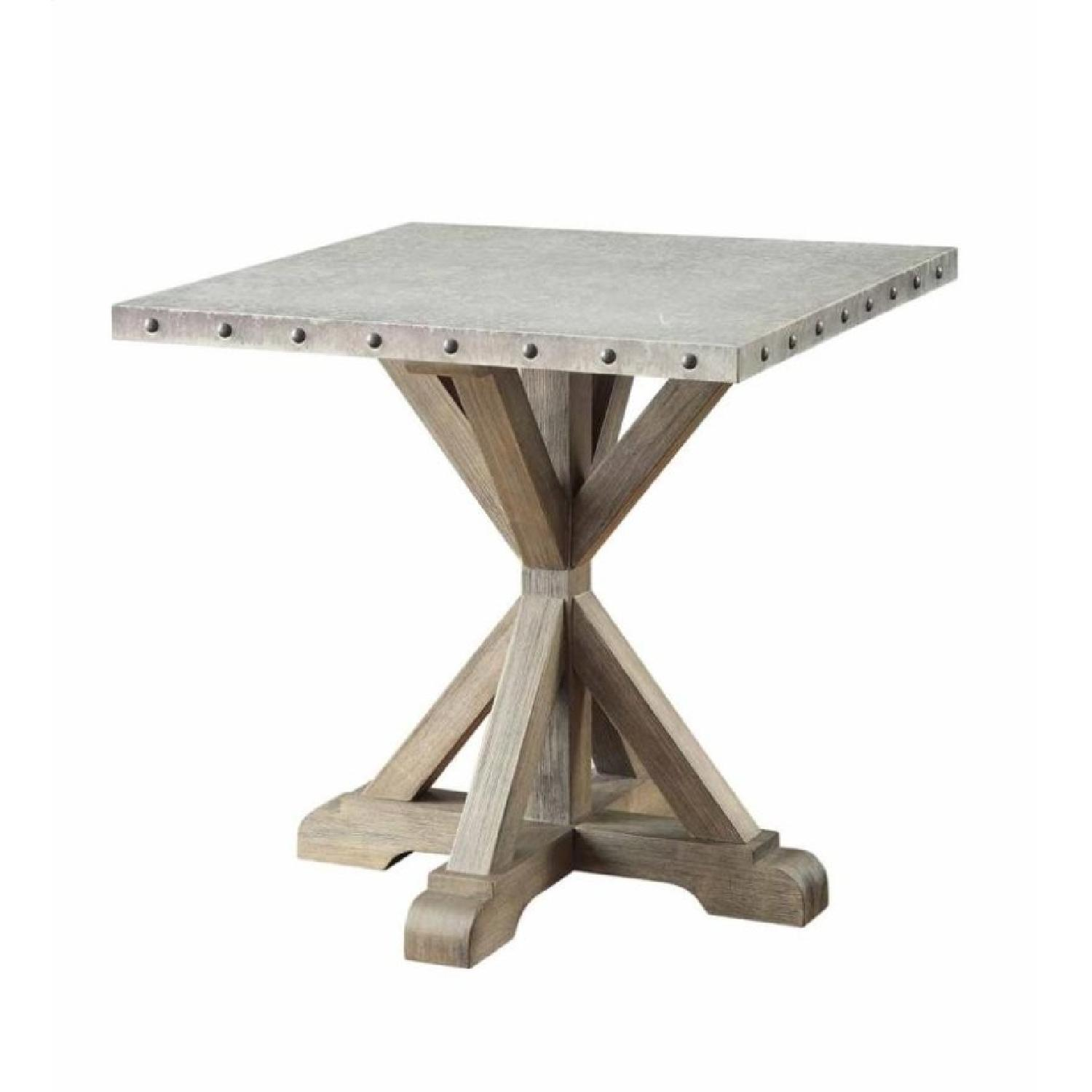 Rustic Industrial Style End Table - image-0