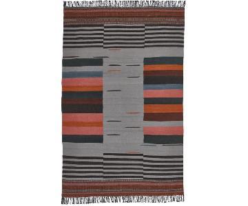 CB2 Gradient Grey Wool Rug