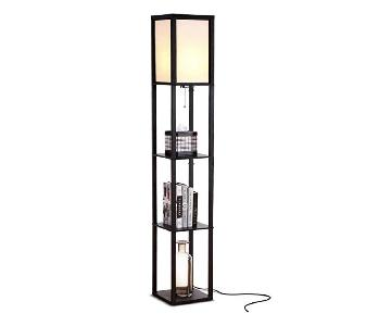 Brightech Maxwell Modern LED Floor Lamps w/ Shelf