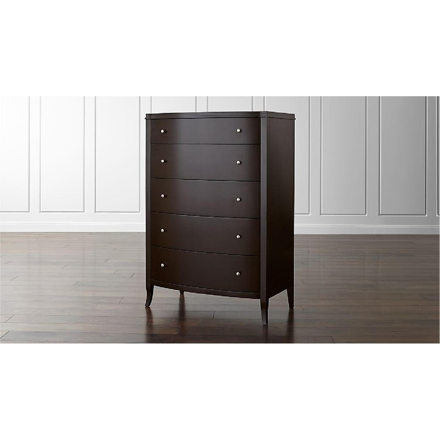 Crate & Barrel Colette Espresso 5-Drawer Chest - image-1