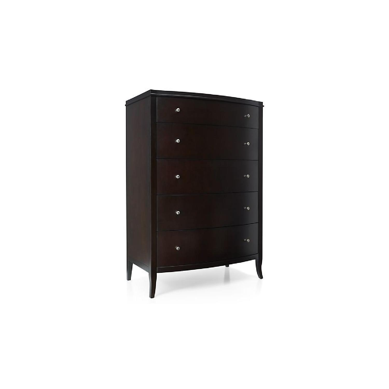Crate & Barrel Colette Espresso 5-Drawer Chest - image-2