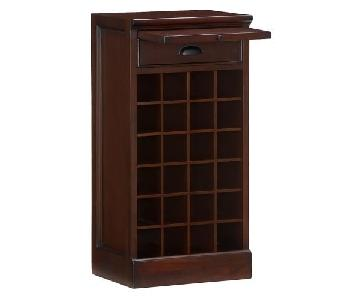Pottery Barn Mahogany Modular Wine Bar Base