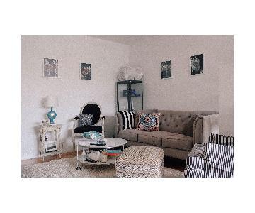 Macys Tufted Vintage Style Sofa