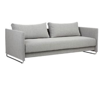 CB2 Tandom Microgrid Sleeper Sofa
