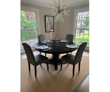 Arhaus Grey Upholstered Dining Side Chairs