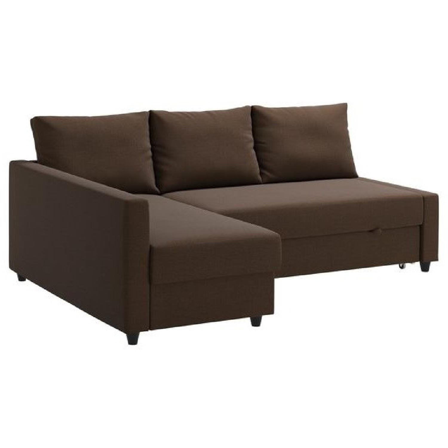 Ikea Skiftebo Brown Sleeper Sectional Sofa w/ Storage
