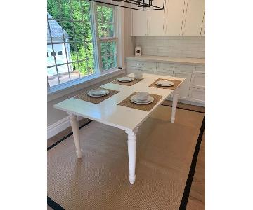 Arhaus White Wood Rectangular Dining Table