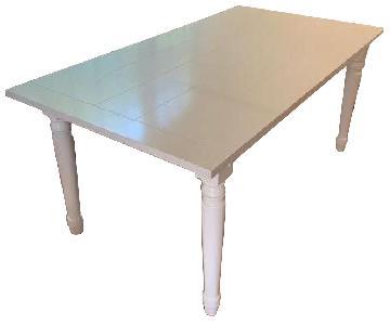 Arhaus White Wood Rectangular Dining Table