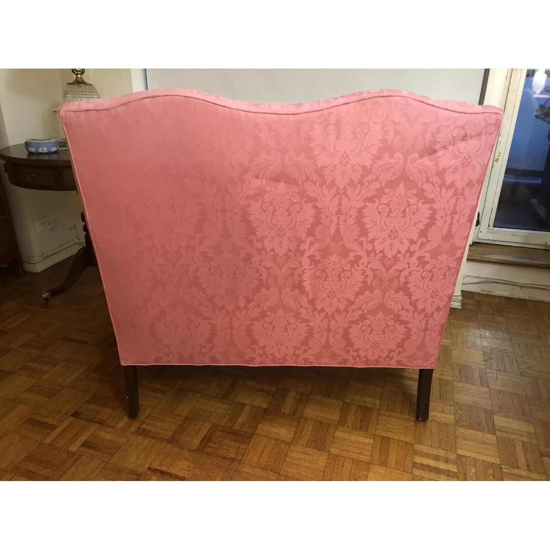 Pink Brocade Loveseat-3