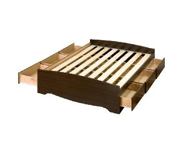 Queen Size Storage Bed Frame w/ Headboard