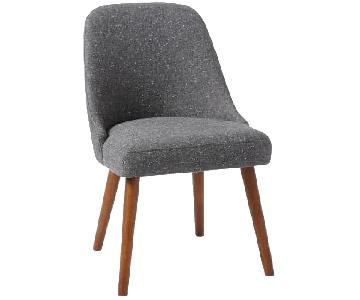 West Elm Mid-Century Upholstered Dining Chair in Tweed