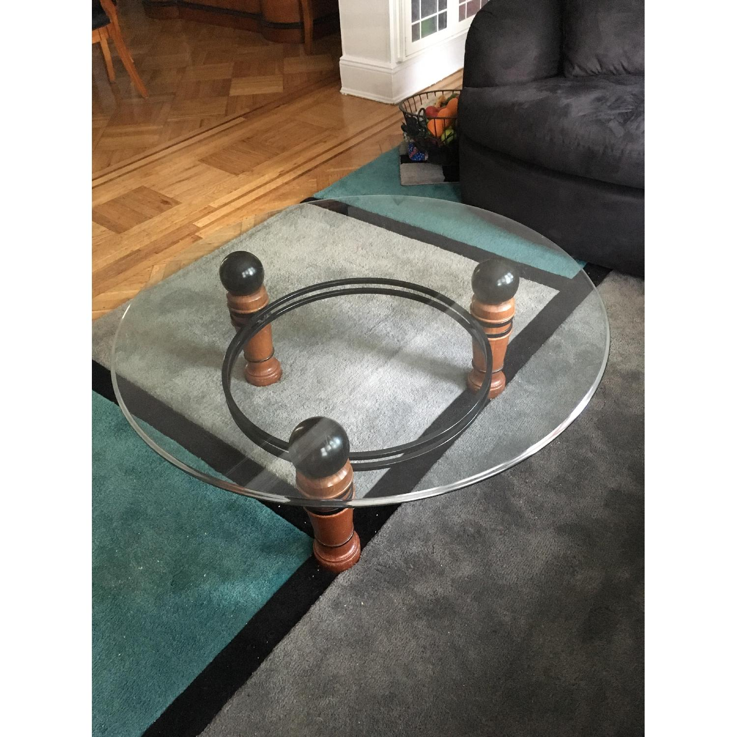 National Mt Airy Glass Top Coffee Table - image-1
