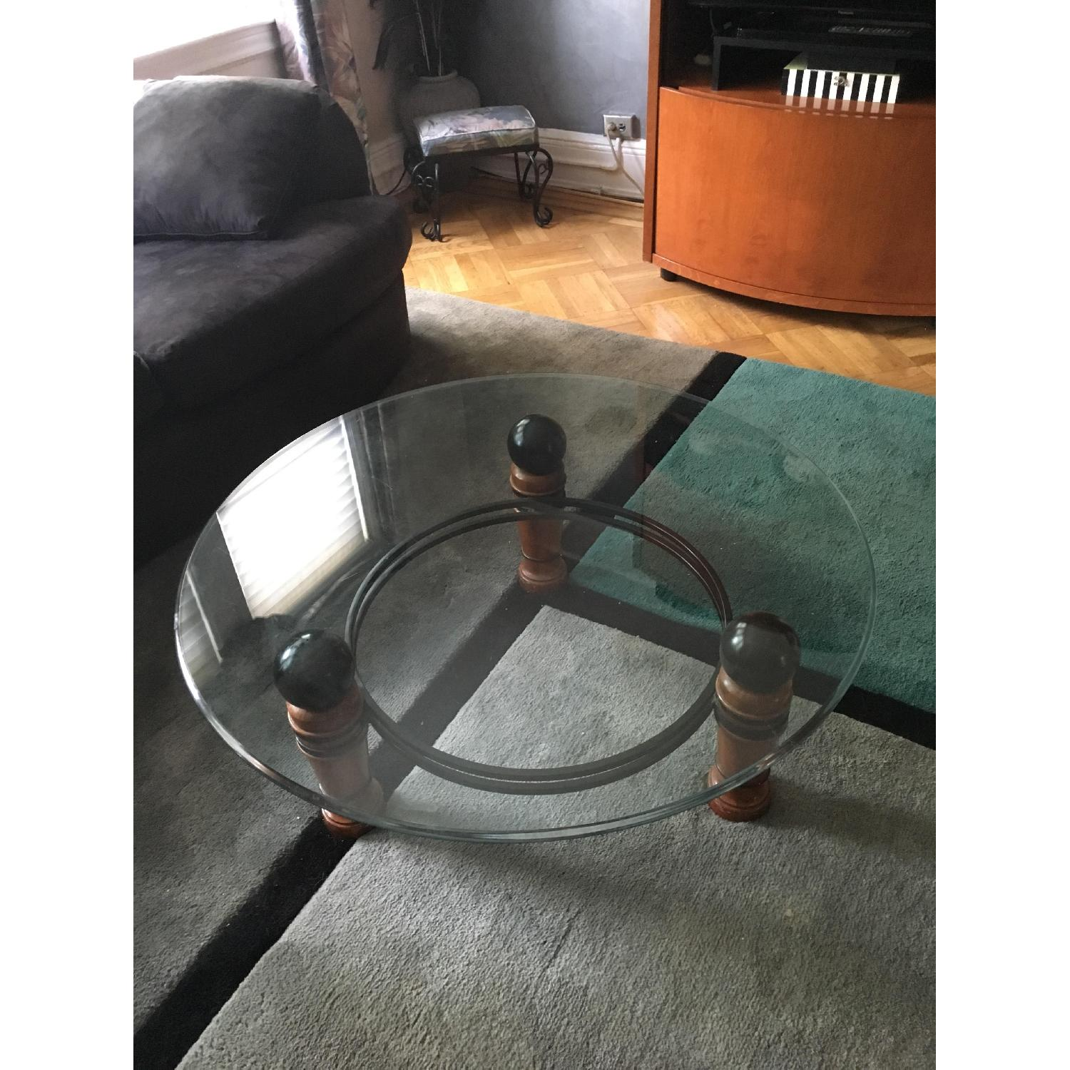 National Mt Airy Glass Top Coffee Table - image-2