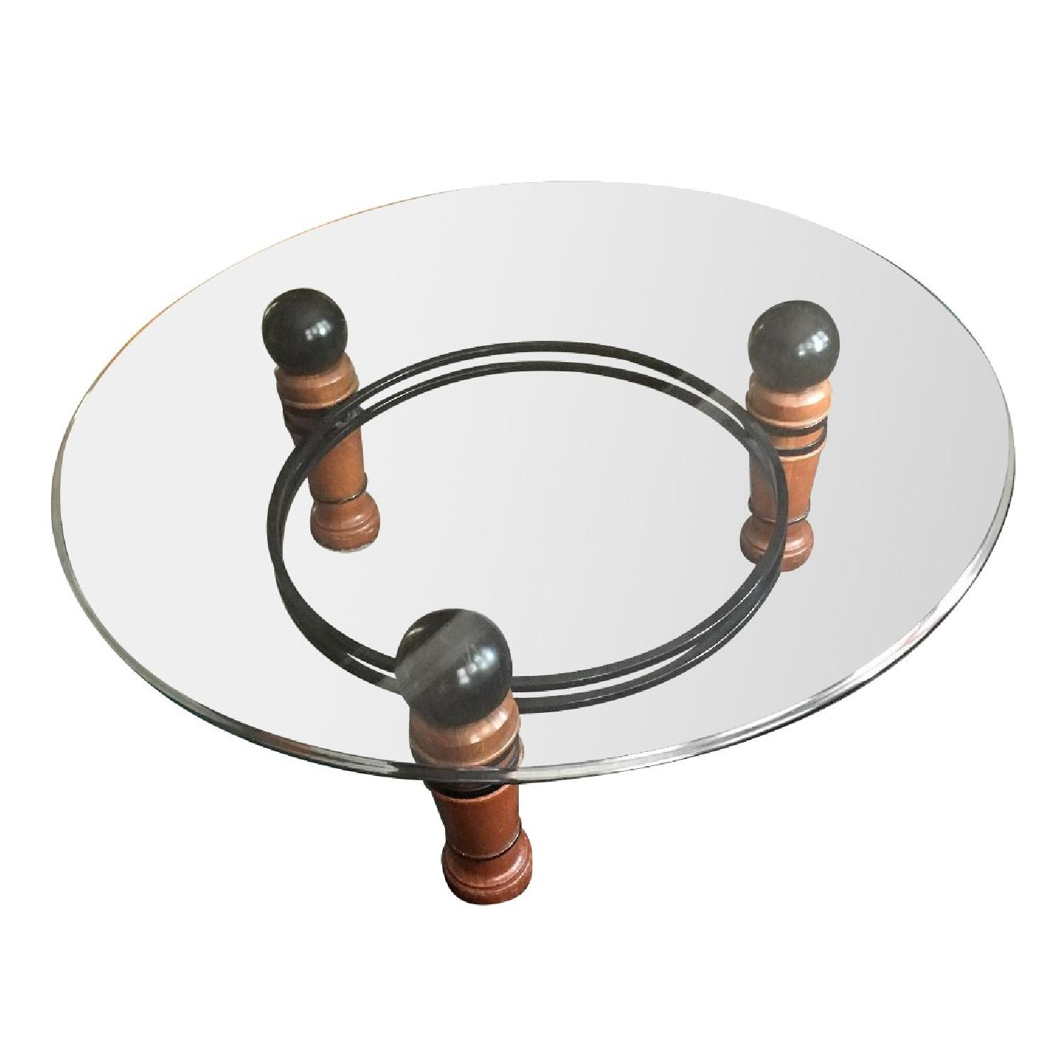 National Mt Airy Glass Top Coffee Table - image-0