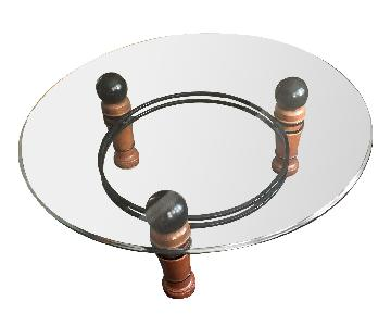 National Mt Airy Glass Top Coffee Table