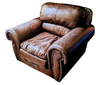Espresso Faux Leather Armchair