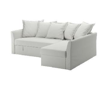 Ikea Grey Sleeper Sectional Sofa w/ Storage