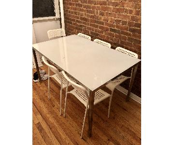 Ikea Melltorp Dining Table w/ 6 Chairs