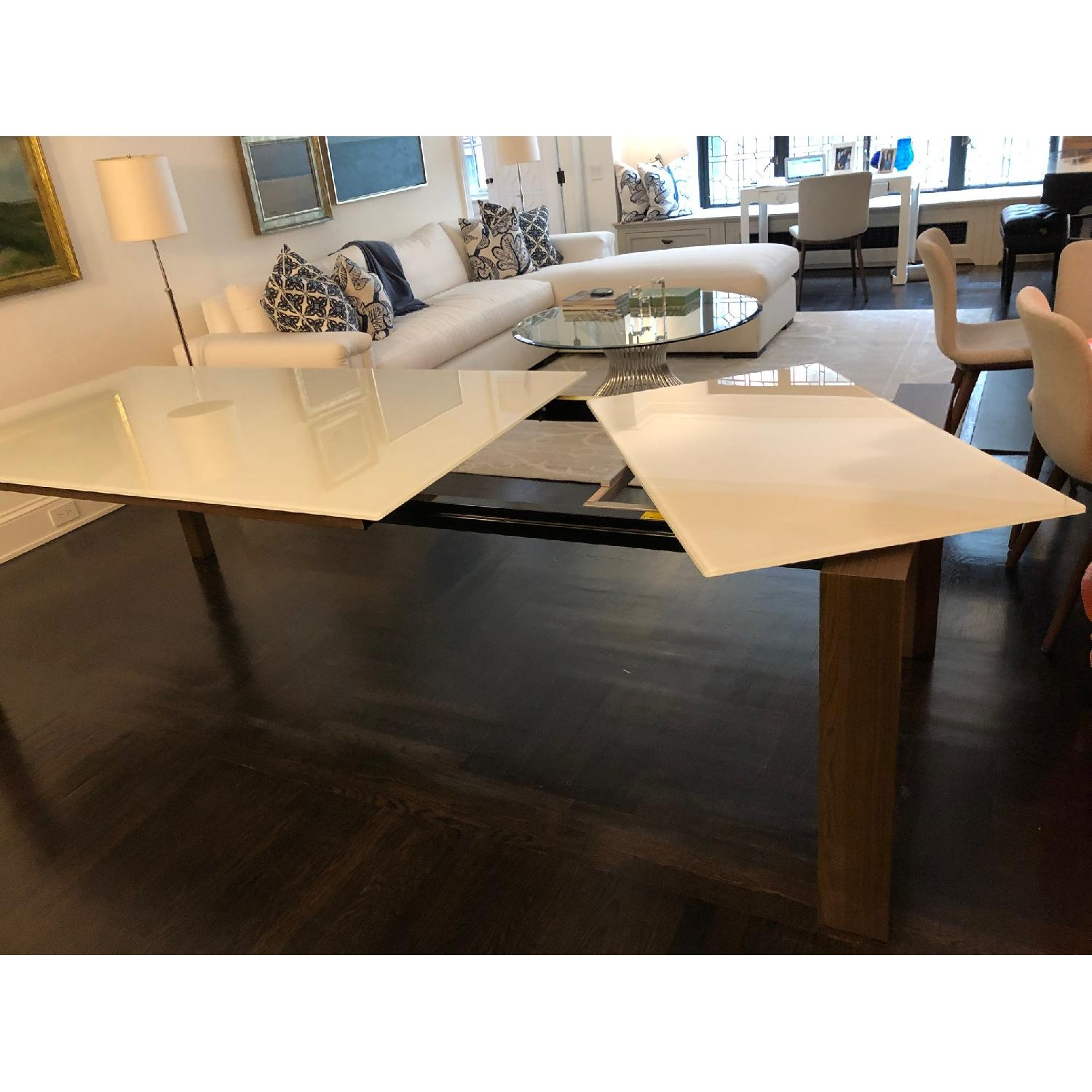 Calligaris Omnia Extendable Table w/ White Glass Top - image-2