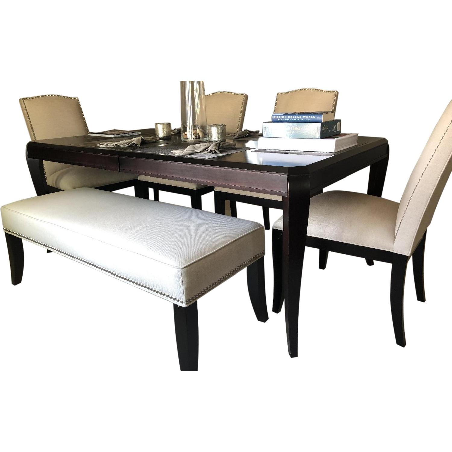 Crate & Barrel Dining Table w/ 4 Chairs & 1 Bench - image-0