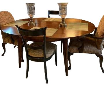 Wood Dining Table w/ 6 Chairs