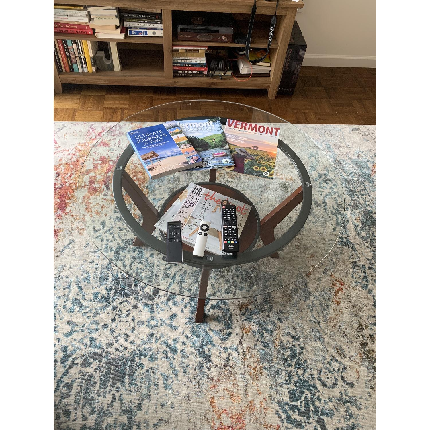 Ashley Glass Coffee Table + 2 End Tables - image-1