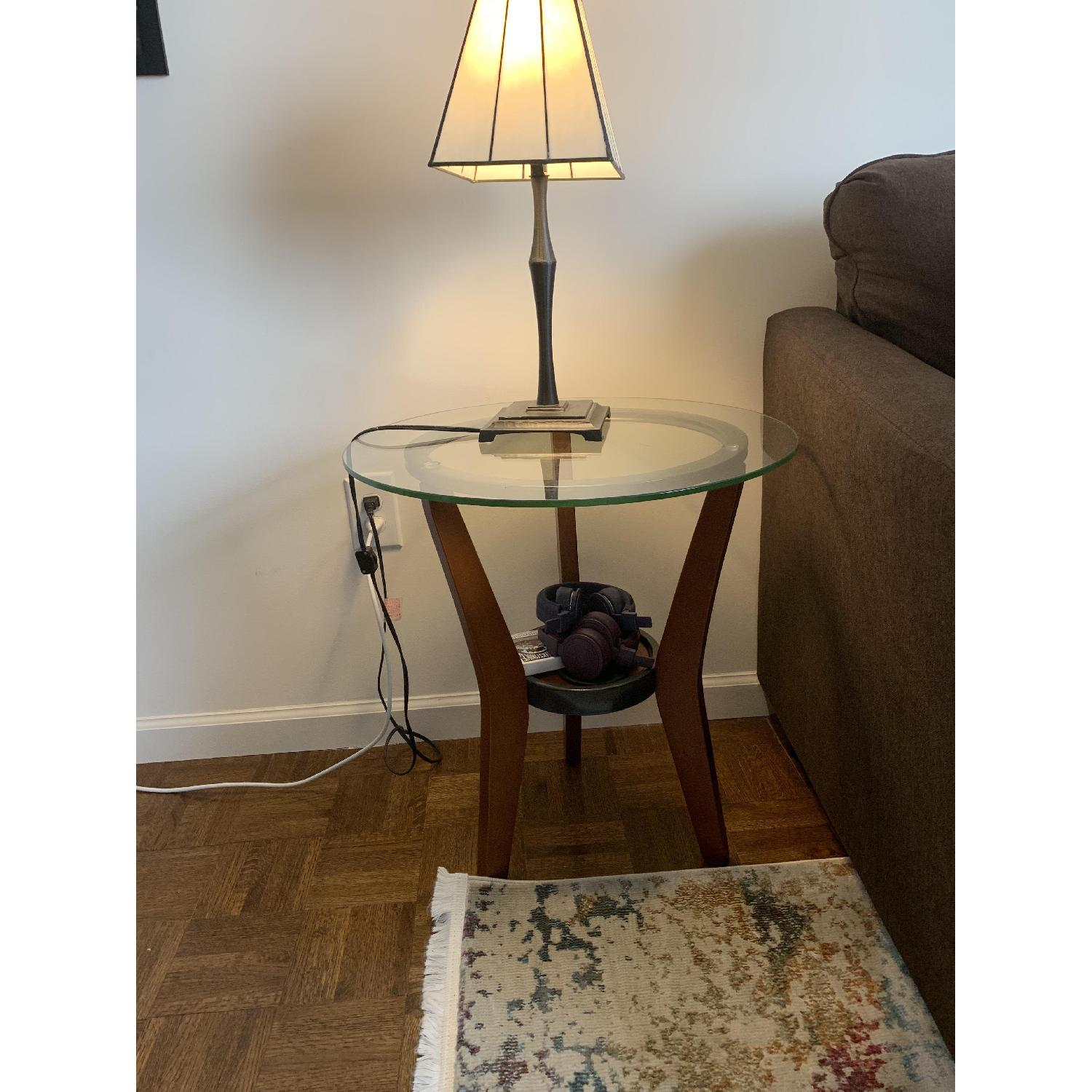 Ashley Glass Coffee Table + 2 End Tables - image-2