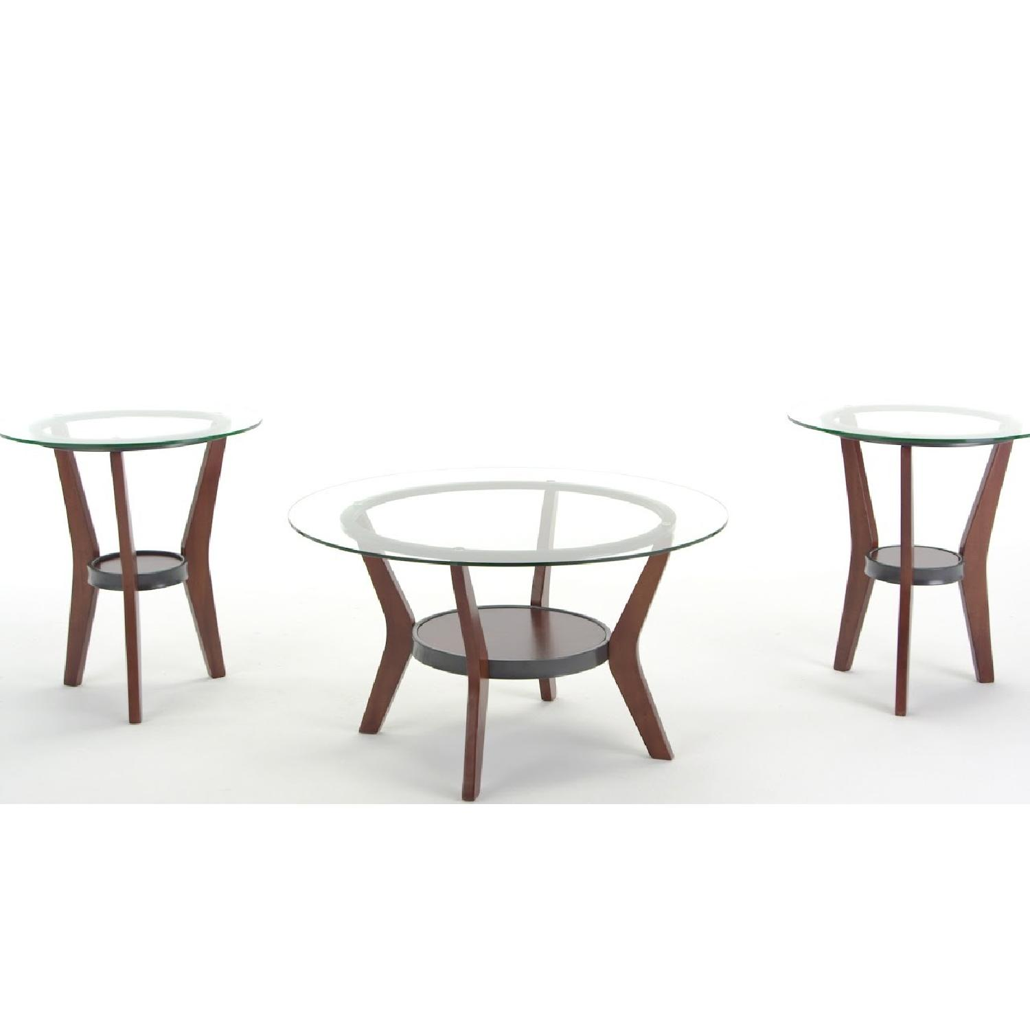 Ashley Glass Coffee Table + 2 End Tables - image-4