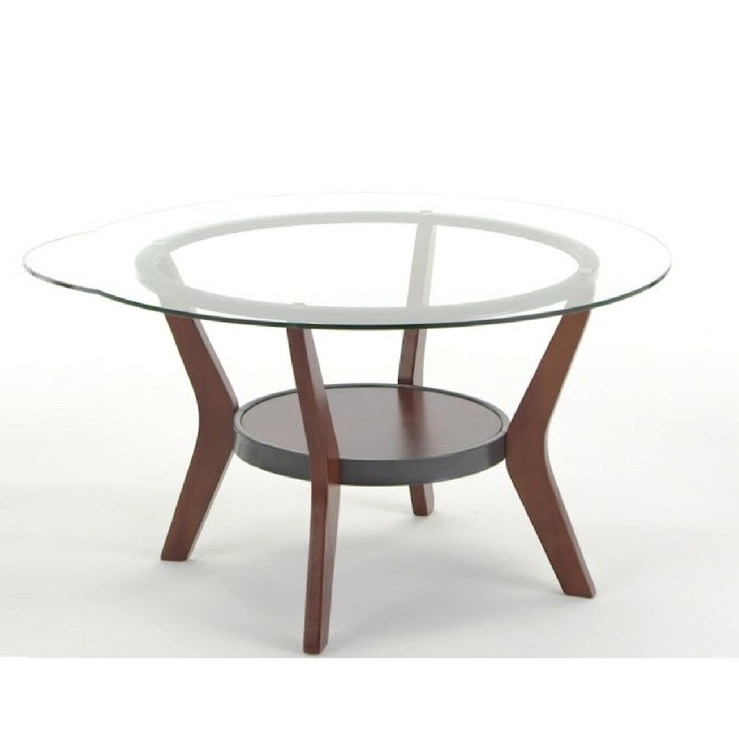 Ashley Glass Coffee Table + 2 End Tables - image-5