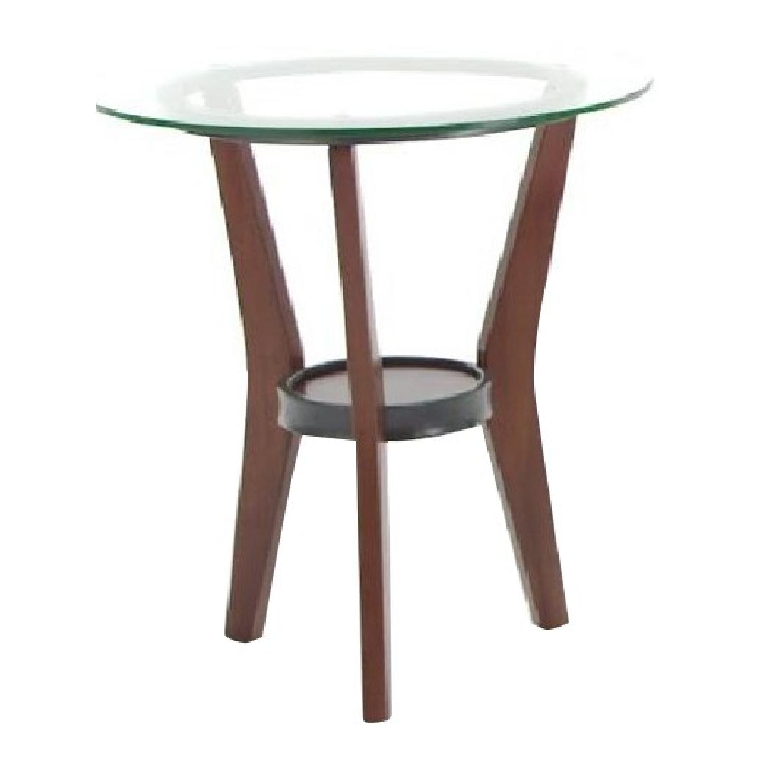 Ashley Glass Coffee Table + 2 End Tables - image-6